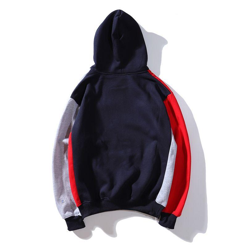 Fashion- mens hoodies designer trend brand man hoodie Street hip hop male pullover Thick section tops selling splice sweatshirt