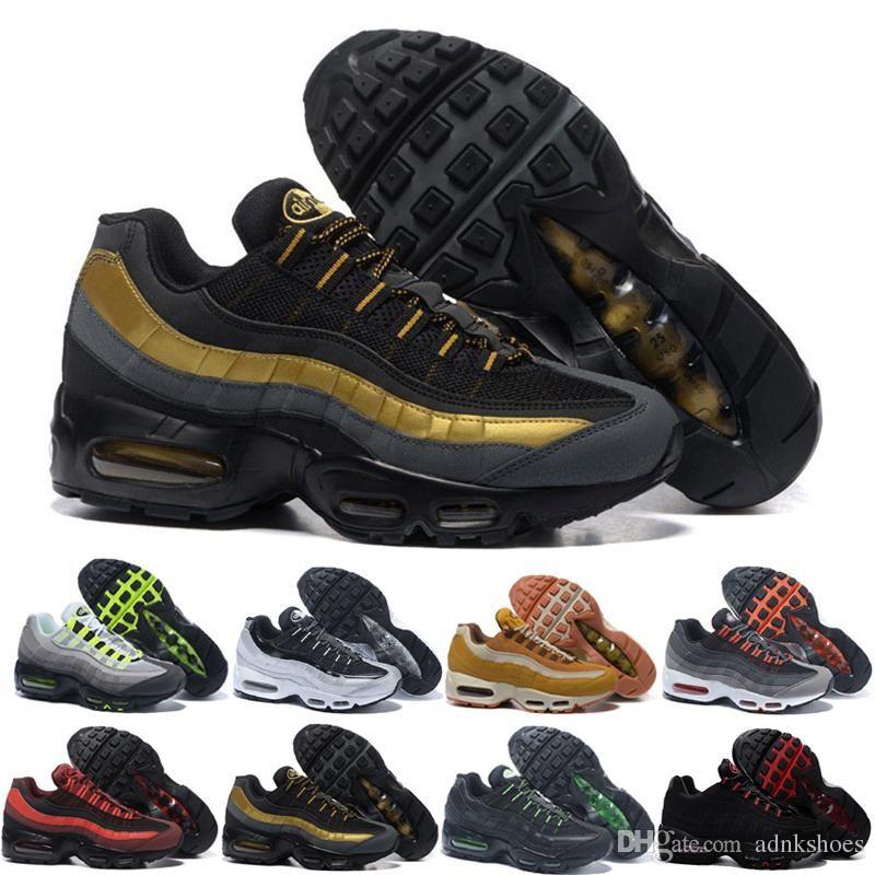 nike air max 95 airmax Alta Qualidade Mens Running Shoes Airs Almofada OG Sneakers Botas Autênticas New Walking calçados esportivos casuais Tamanho 36-46