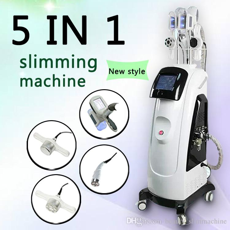 2019 máquina de crioterapia máquina de congelación de grasa peso perdido dispositivos domésticos 5 en 1 máquina de radiofrecuencia reducción de grasa láser