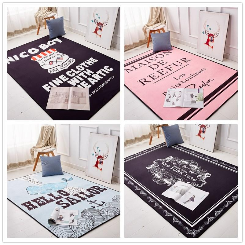 200 * 300cm 단순 북유럽 매트 창조적 인 조수 브랜드 거실 커피 테이블 카펫 인 침실 요가 사용자 정의 스타일 여신 담요