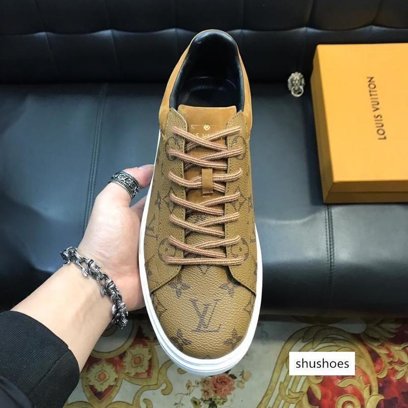 sapatos New50 moda casuais sapatos desportivos selvagens confortável ao ar livre high-end padrão sapatos masculinos caixa de embalagem original rápido de