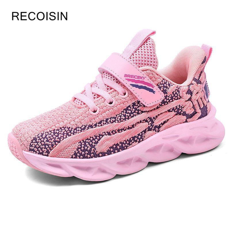 RECOISIN 2020 Sneakers Kids Sport Shoes For Girls Running Shoes Girl Breathable Children Girls Sneakers Light Boys