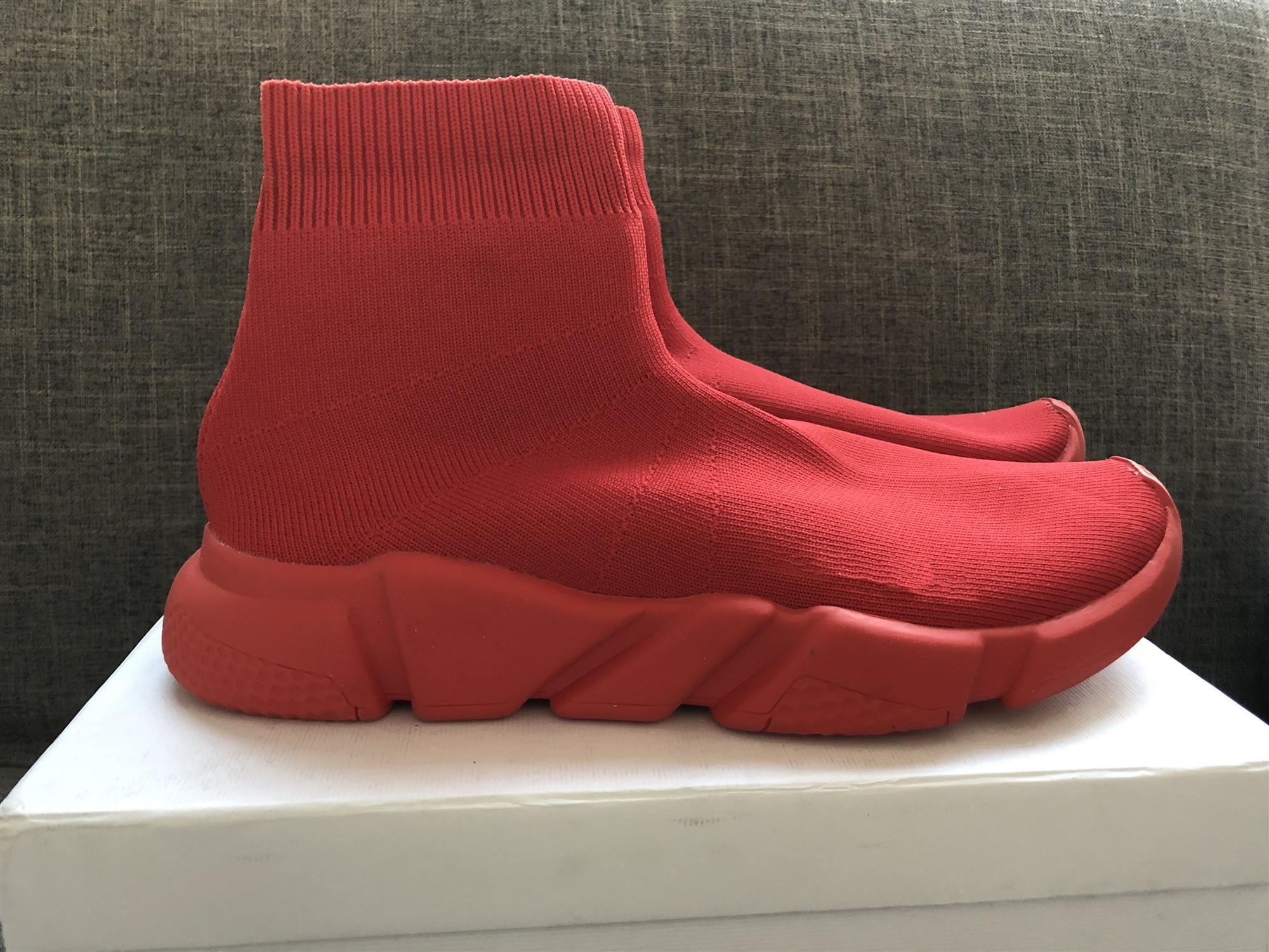 2020 Luxury Designer Sock Scarpe plate-forme Red bottomy costi-EFFS buoni uomini qualitective donna traspirante Calzino Race nero Scarpe C04