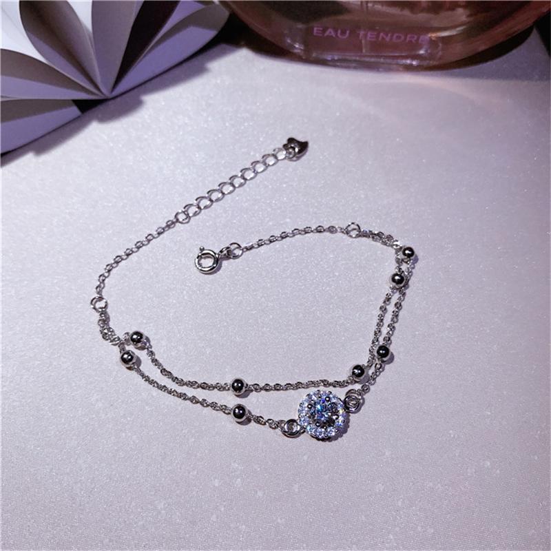 925 серебряного браслет качества высоких дам ювелирных изделия 5A циркон простой женской партии годовщина браслет подарок высокого качества