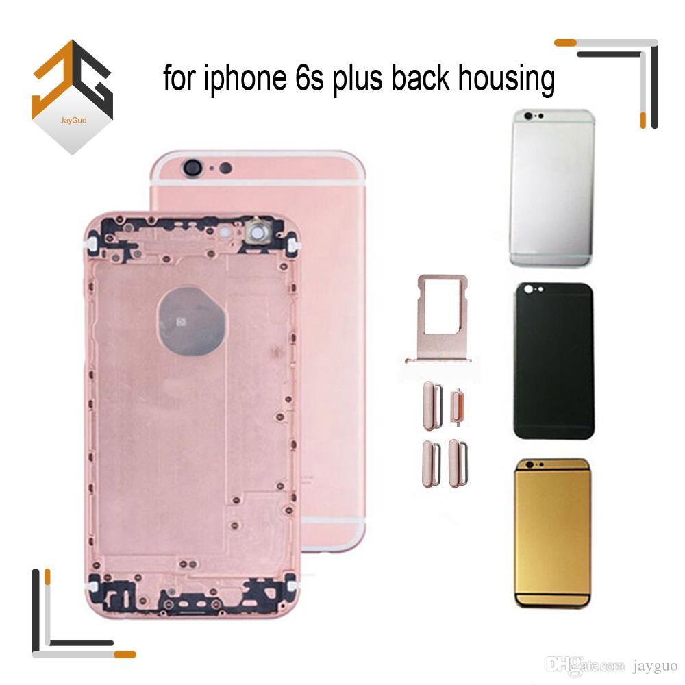 20 PC para el grado A de la Asamblea Oro iPhone 6S Plus tapa de la batería que contiene la contraportada de puerta trasera Caja blanco Negro piezas de repuesto de teléfono