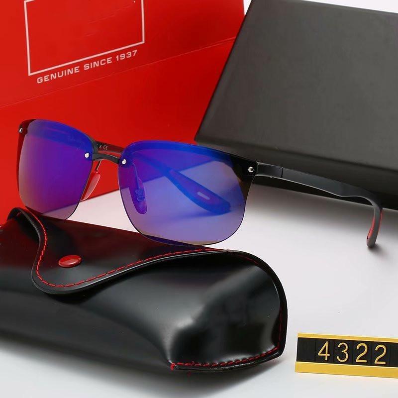 تصميم الساخن بيع العلامة التجارية النظارات الشمسية خمر رجل إمرأة طيار نظارات شمسية UV400 نظارات إطار معدني بولارويد زجاج عدسة مع القضية، وعلبة 4322