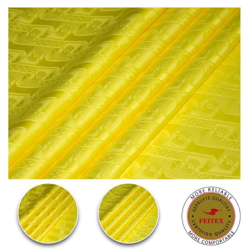 Austria Qualità Giallo brillare africani di cotone jacquard tessuti per vestiti dei capretti abito cucito Materiale Tessuto tessile cinese