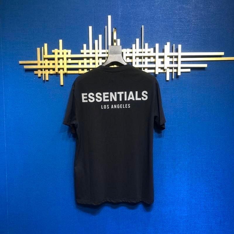 20ss Hip Hop Fear Of God Essentials-Los Angeles 3M Reflective T Skateboard Kühle T-Shirt Nebel LA Männer Frauen Baumwolle Kurzarm Casual T-Shirt