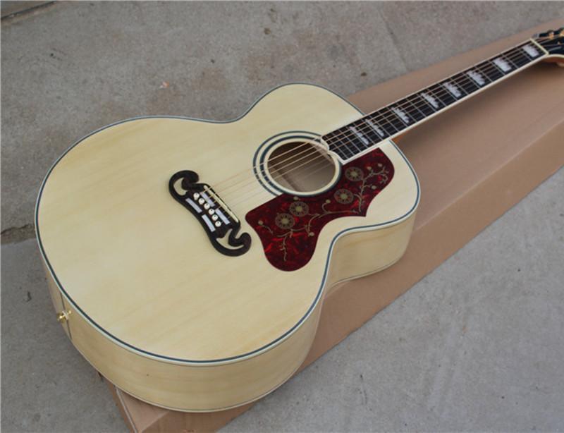 6 cuerdas de la guitarra acústica con madera natural Color del cuerpo, Negro vinculante, palisandro y puede ser personalizado