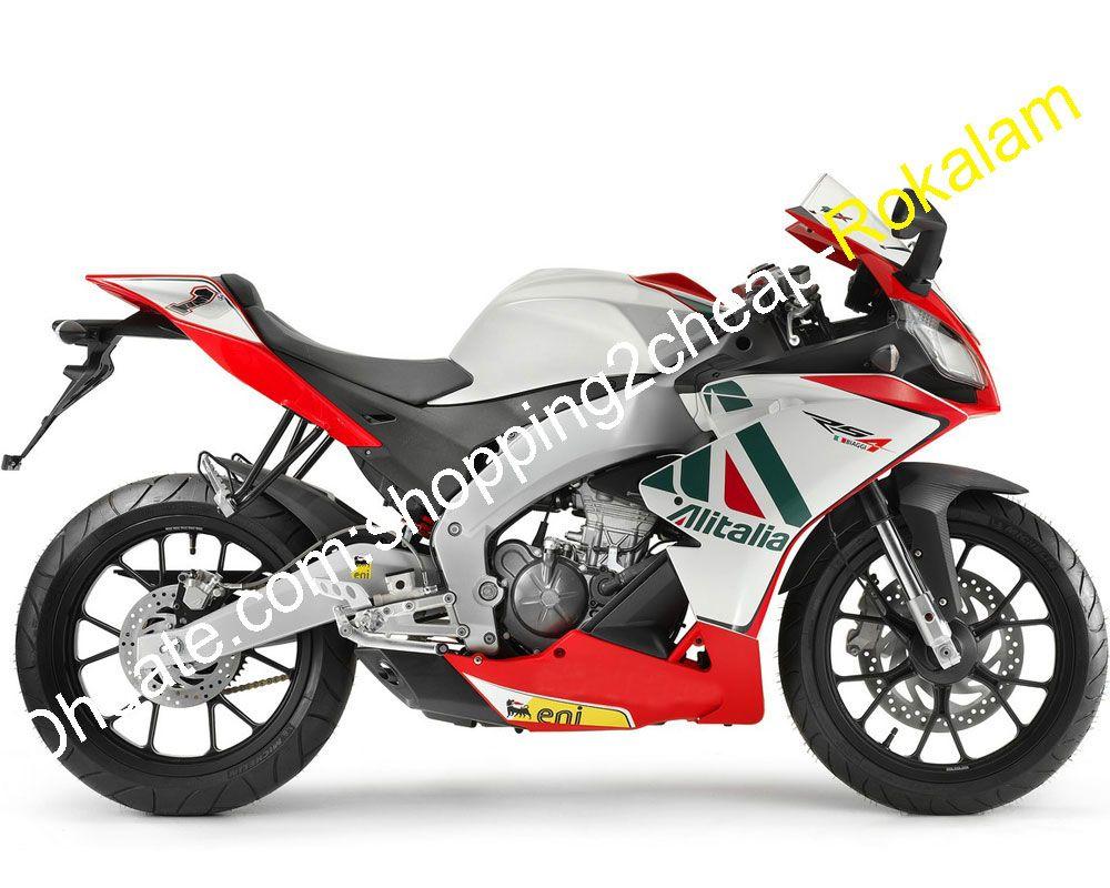 Para Aprilia RS4 125 50 Motocicletas 2012 2013 2014 2015 Blanco Rojo Verde Kit Carrocería del carenado del mercado de accesorios (moldeo por inyección)