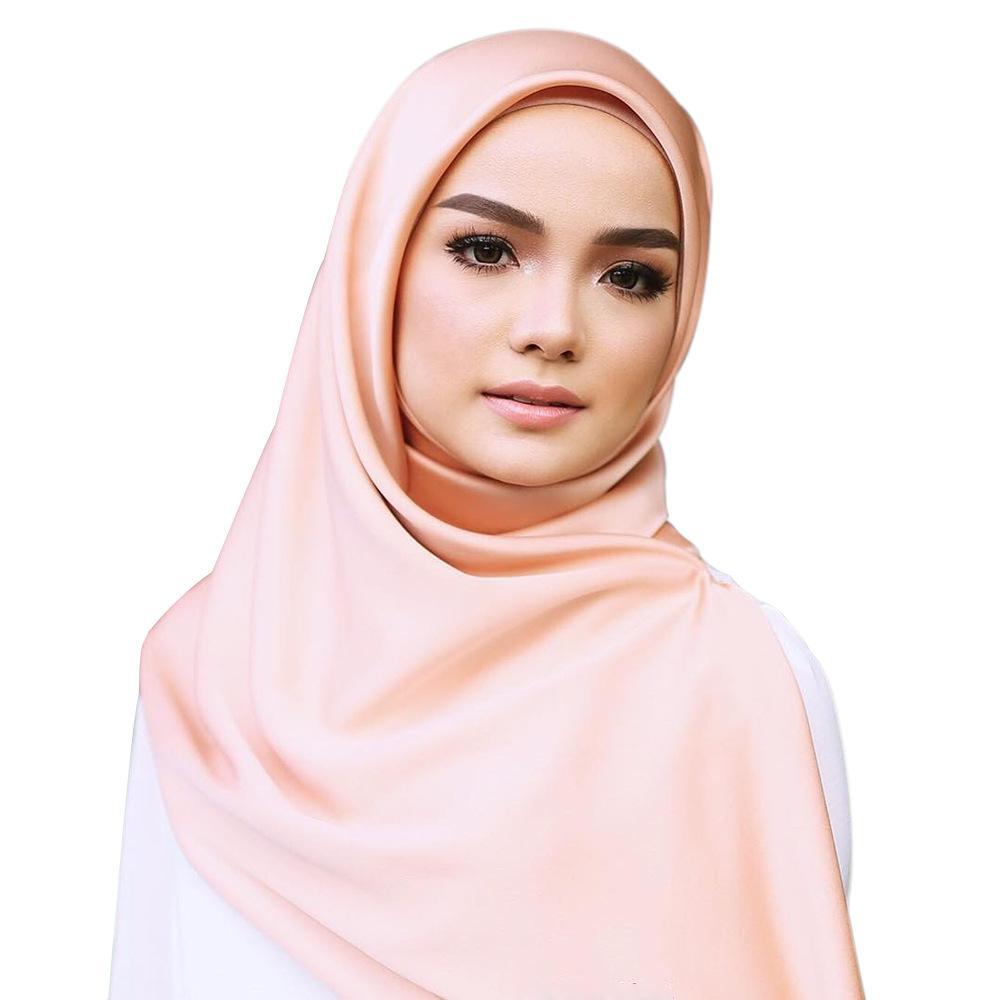 90X90CM المنديل الحرير نساء العلامة التجارية الحرير طرحة ساحة قلد الحرير شال طرحة الحجاب الاسلوب المناسب مسلم وشاح أنثى السيدات الحجاب