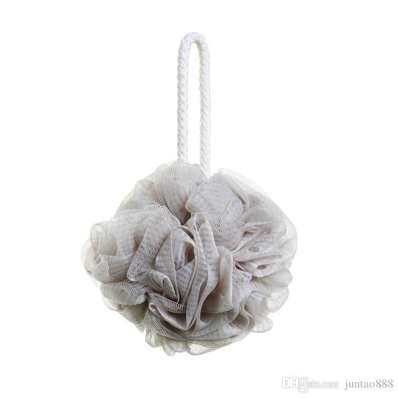 Bath Flower shower ball Super soft Bubble Bath Ball 4 Colors Universal for summer shower Free shipping