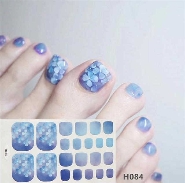 Stickers & Decals 1sheet Charming Toe Nail Sticker Mixed Flowers Sequins 3D Nail Art Tips Adhesive Toenail Art Polish Tips