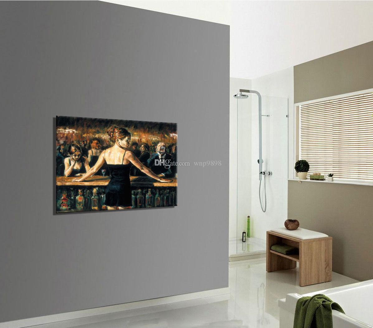 a023 # Barmen Fabian Perez Handpainted HD Baskılı Portre Sanat Yağ Yüksek Kalite Kanvas Duvar Sanatı Ev Dekorasyonu Çoklu Boyut p181 On Boyama tarafından