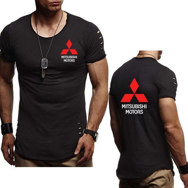 Nuevo 2020 equipo del verano de los hombres S T-Camisa para Mitsubishi coche Impreso de cuello del algodón de los hombres de manga corta S Moda de manga corta S