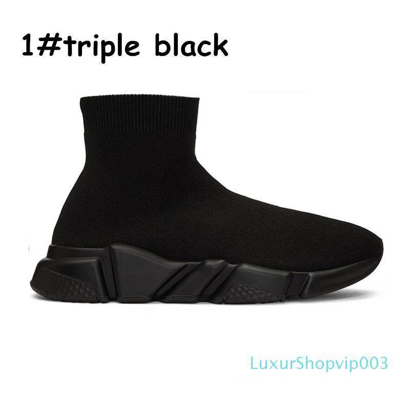 2020 Designer Schuhe Socken Plattform Speed Trainer Gelegenheits von Triple Red Bule weiß Flache Frauen der Männer Sport-Turnschuhe Art und Weise [mit box] 2020