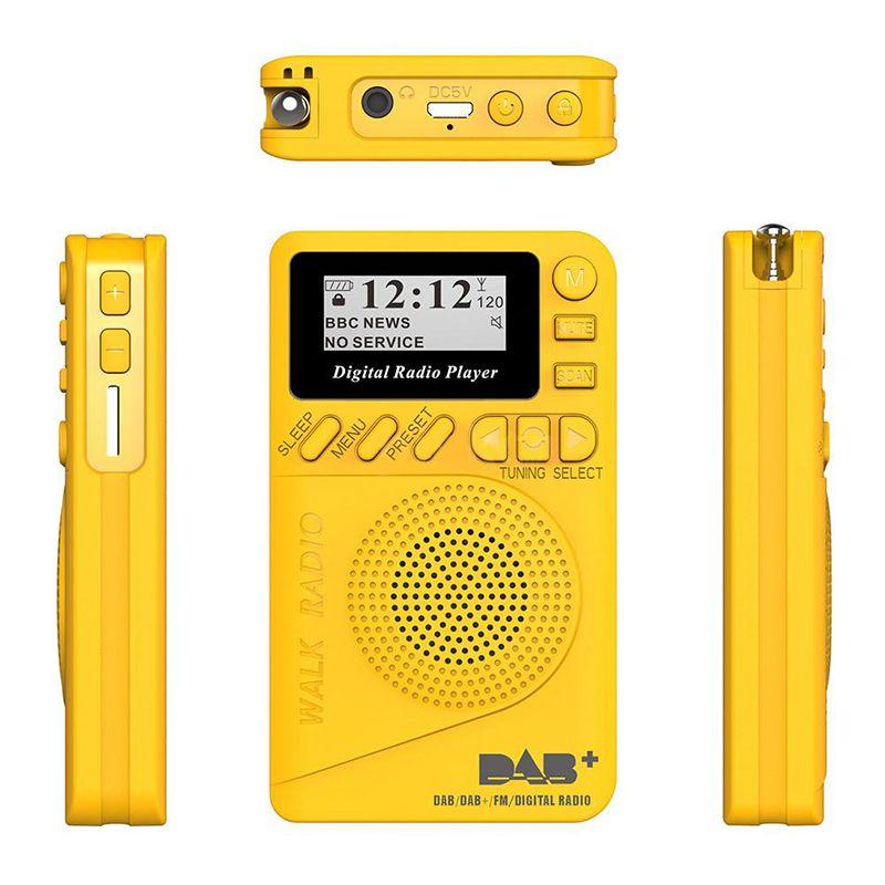 Portable Audio & Video New Pocket Portable DAB+ Digital Radio Rechargeable Battery FM Radio LCD Display EU Plug Loudspeaker For