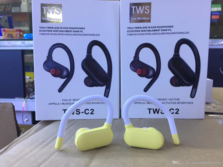 Bunter TWS-C2 drahtloser Kopfhörer TWS C2 Bluetooth 5.0 Kopfhörer Minisportstereokopfhörer tws zutreffendes drahtloses Earbuds für Smartphone