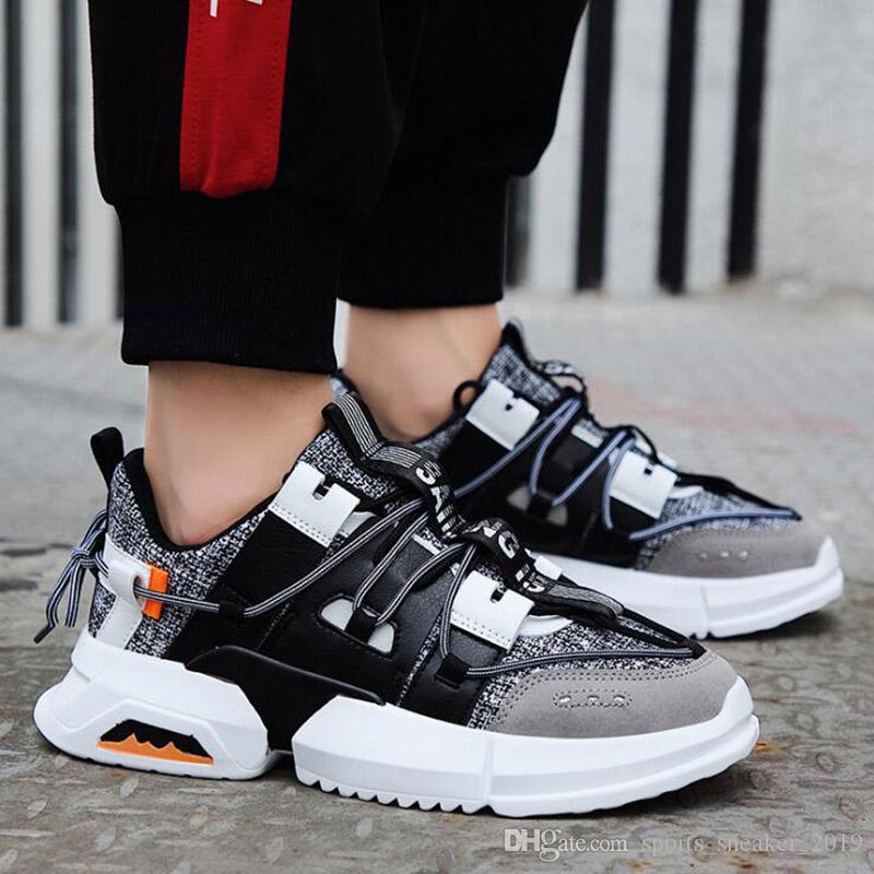 Yeni Sıcak Satış Erkekler Ayakkabı Koşu Erkek Siyah Açık Ayakkabı Beyaz Mesh Spor Spor ayakkabılar Ücretsiz Kargo Boyut 40-44