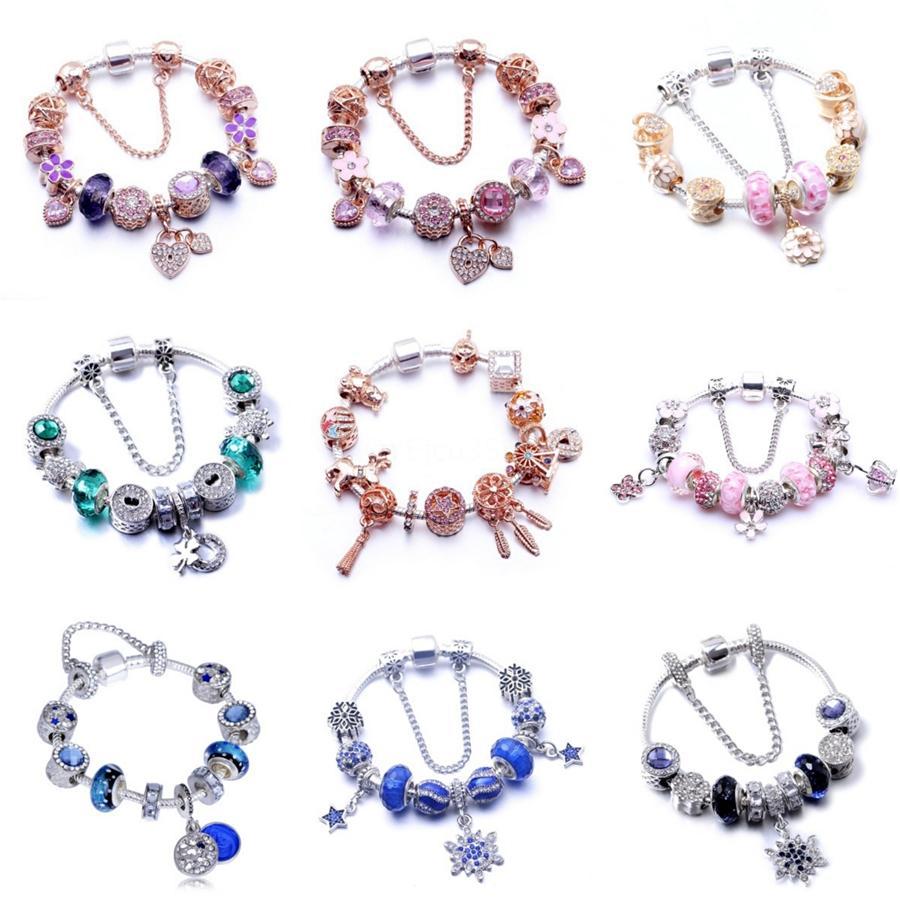 2020 Nouvelle 925 Sparkling en alliage Sterling Freehand coeur Dangle Charms Fit collier de perles Bracelet Pendentif Diy pour les femmes Fine Jewelry 788693 # 914