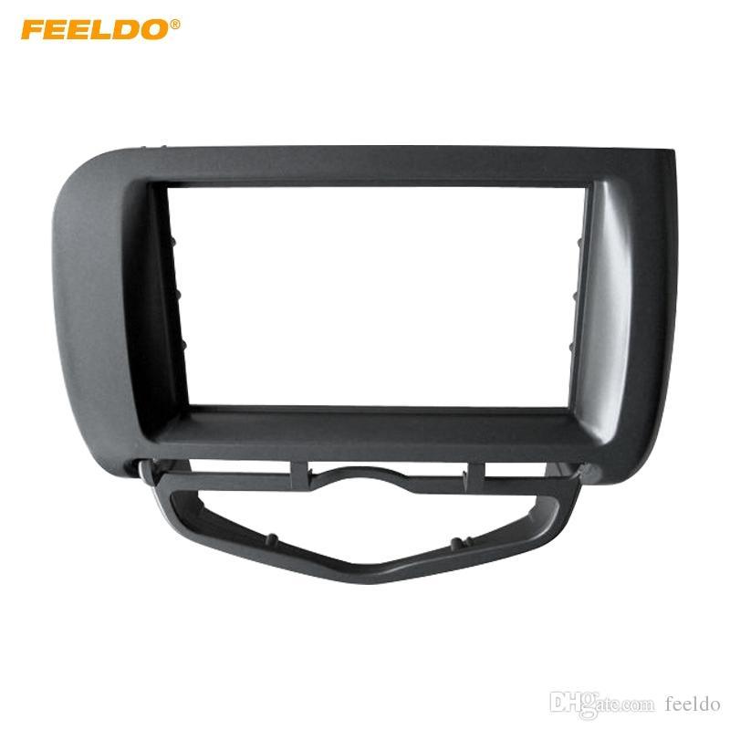 FELELO Car Radio Fascia Frame for Honda Fit Jazz / City 2002-2008 (Auto AC، LHD) Stereo DVD 2Din Dash Face Frame Installation Mount Kit # 4964