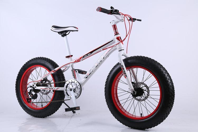 Usine de gros 20 pouces pneu large neige vélo à vitesse variable VTT 7 21 24 27 Vitesse VTT