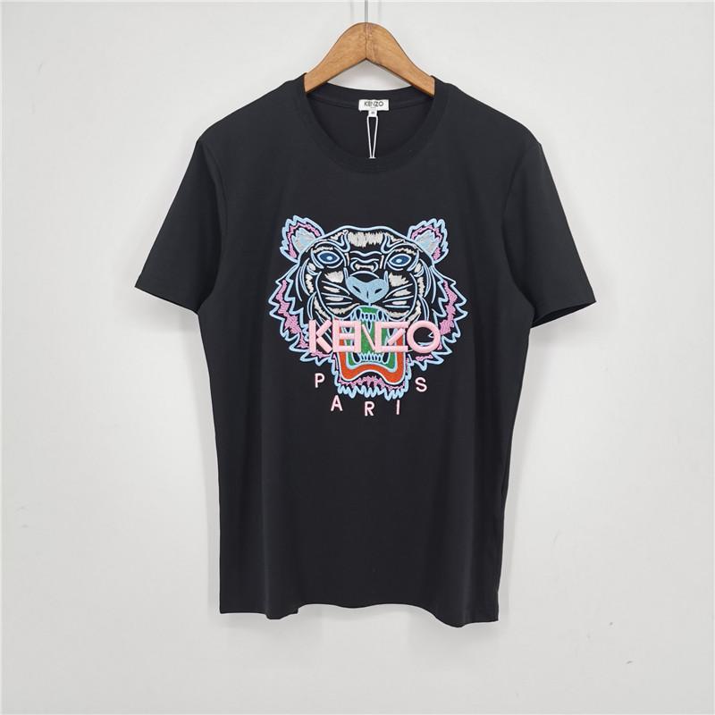 Новый модный бренд мужские дизайнерские футболки девушки футболка с коротким рукавом рубашки Тигр письма женские летние тройники Бесплатная доставка A1KMN 2031804V