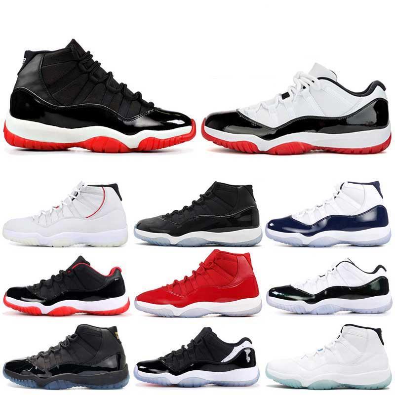 11 11s Concord 45 23 Пром Ночь Мужчины Баскетбольная обувь Платиновый оттенок Тренажерный зал Red Bred PRM Heiress Barons Прохладный Серый мужской спортивные кроссовки