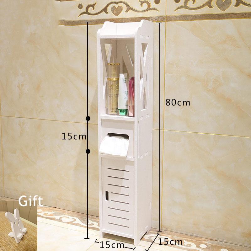 Pequeño tocador de baño Planta Permanente de almacenamiento de baño mueble lavabo ducha estante de la esquina de las misceláneas plantas de almacenamiento Bastidores