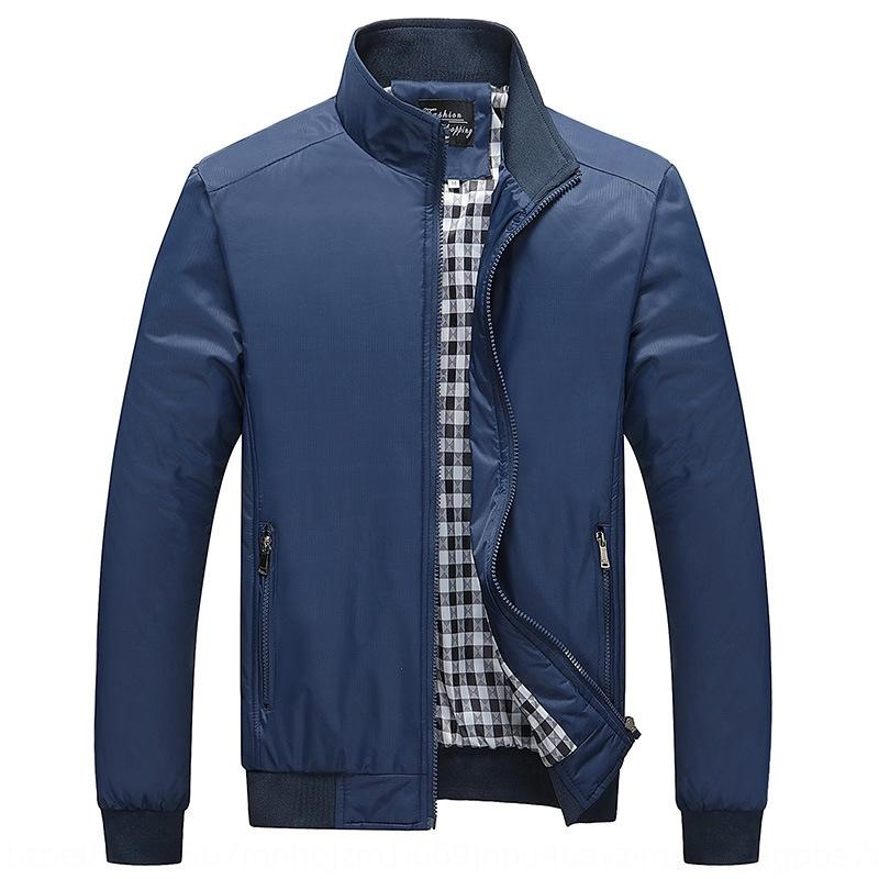 epWoK Thickened coat middle-aged dad 50-60 stand collar business male father Thickened coat middle-aged dad jacket jacket 50-60 stand collar