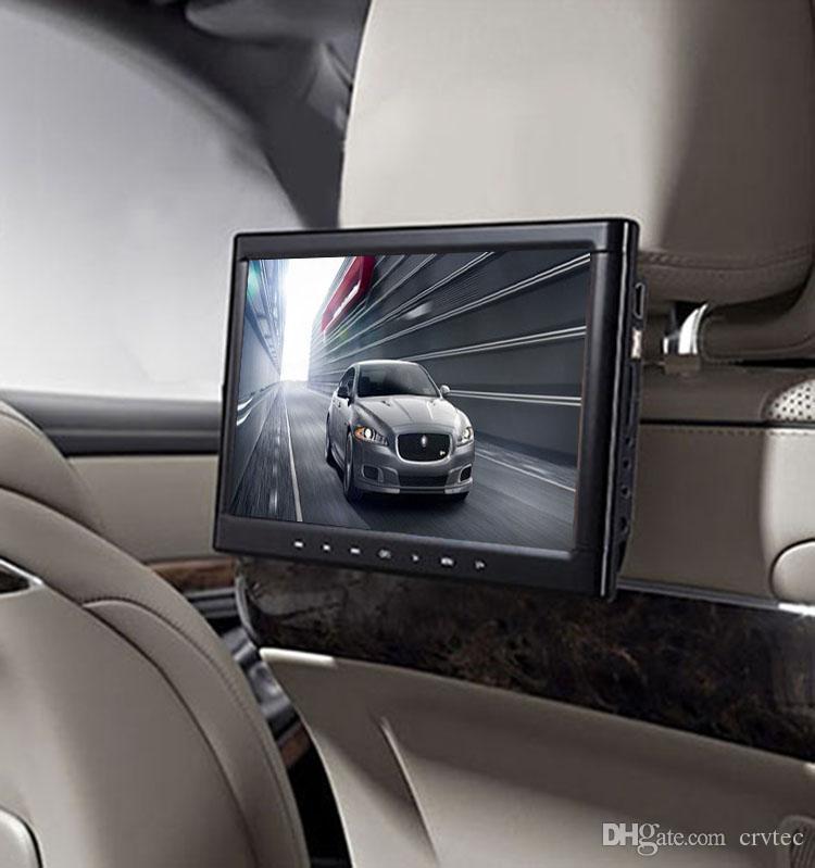 Lecteur DVD de voiture avec repose-tête à écran tactile 10,1 pouces HD avec touche tactile HDMI cd usb sd émetteur de télécommande IR support de jeu noir
