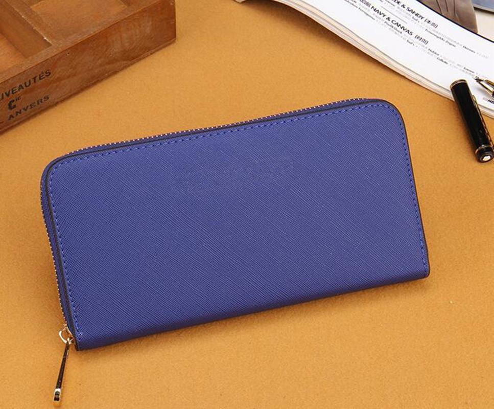 2020 livraison gratuite 7 nouvelles couleurs tendance de la mode sac à glissière unique CLASSIQUES femmes sac en cuir PU femmes long portefeuille de haute qualité