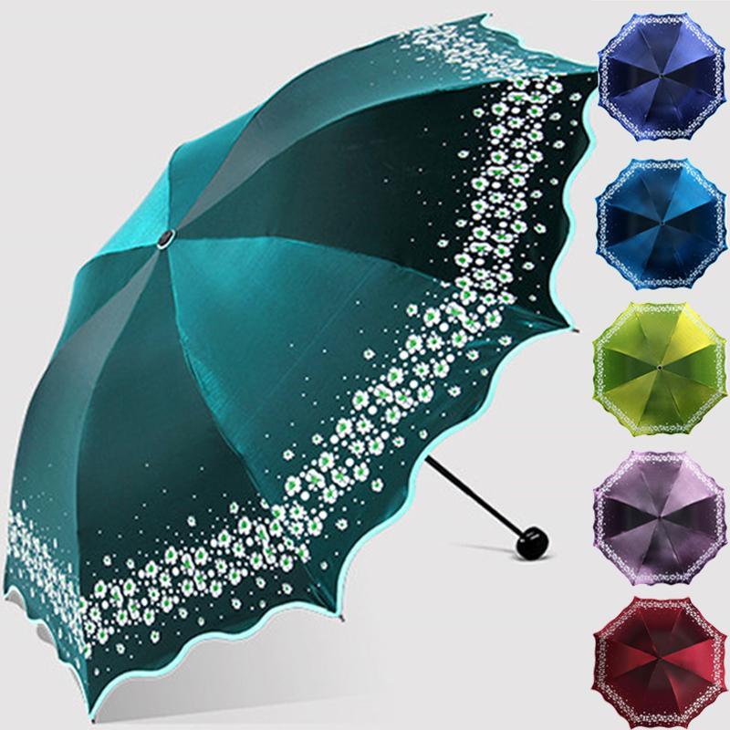 Paradise Full Blackout Color Flash Umbrellaumbrella Rain Women Fashion Arched Princess Umbrellas Female Parasol Creative Gift Q190603