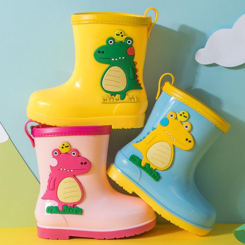 Childrens Rain Boots Cute Cartoon Boys