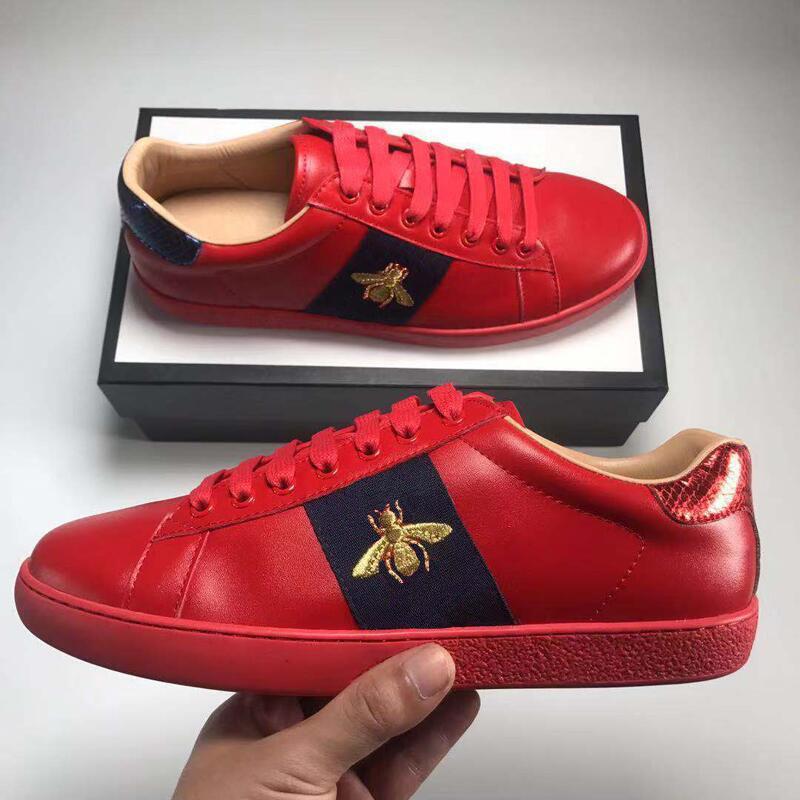 Big Size 35-48 us13 Plus chaussures de designer Mix 15 modèles Chaussures en cuir Ace Top Marque de luxe chaussures de sport avec tigre fleur abeille