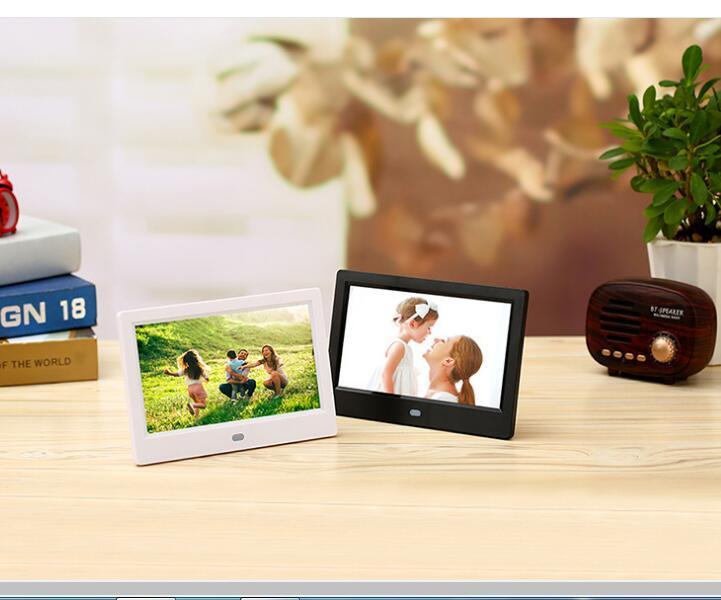7 inç dijital fotoğraf çerçevesi hd elektronik fotoğraf albümü ultra ince taşınabilir lcd ekran düğün fotoğraf dijital çerçeve