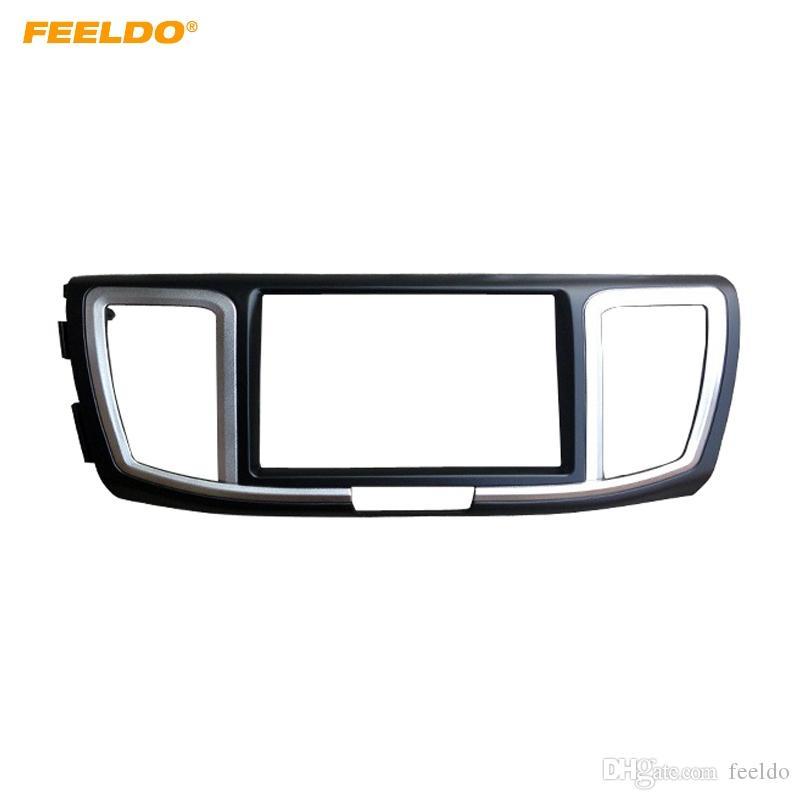 FEELDO Car 2Din Radio fascia Adaptateur cadre pour Honda Accord 2013-2018 Panel stéréo Installation au tableau de bord # 4928 Kit garniture