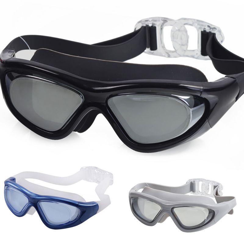 Men Women Sports Professional Anti Fog UV Protection Diver Swimming Goggles Coating Waterproof Adjustable Swim Glasses