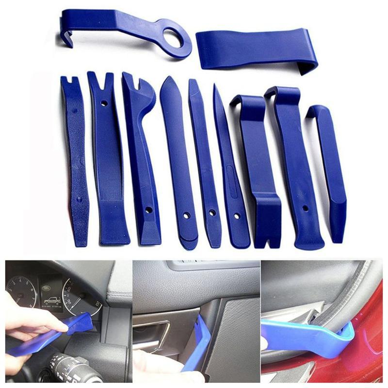 11 PCS Car Removal Kits Auto Interior Radio Panel Repair Tool Durable Door Clip Window Trim Dashboard Removal Install Tool Set