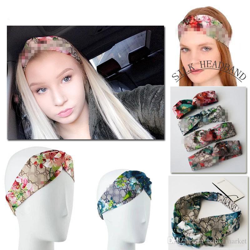 2019 caliente Más Nuevo Cintas para el pelo de Seda Heaband para Mujeres Moda bordado diademas Mejor Calidad para regalo Accesorios para el cabello