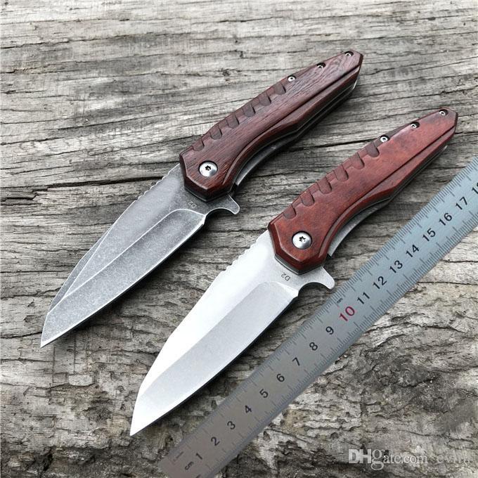 Высочайшее качество Flipper складной нож D2 стальной лезвие черное дерево ручка шарикоподшипника EDC карманные подарочные ножи