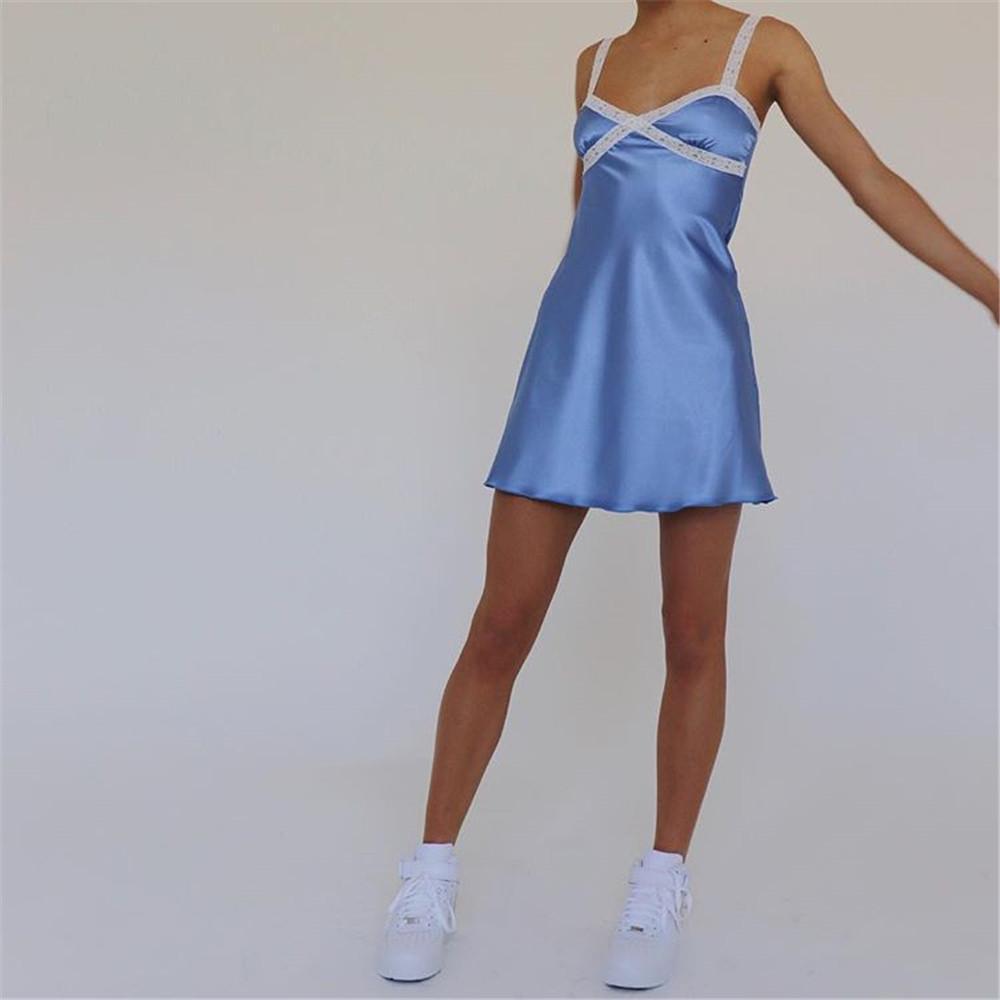 KGFIGU 2019 Neuheiten Sexy Kleid-Frauen Sleeveless A-line, figurbetonte Kleid-Verein-Partei Leibchen Kleid