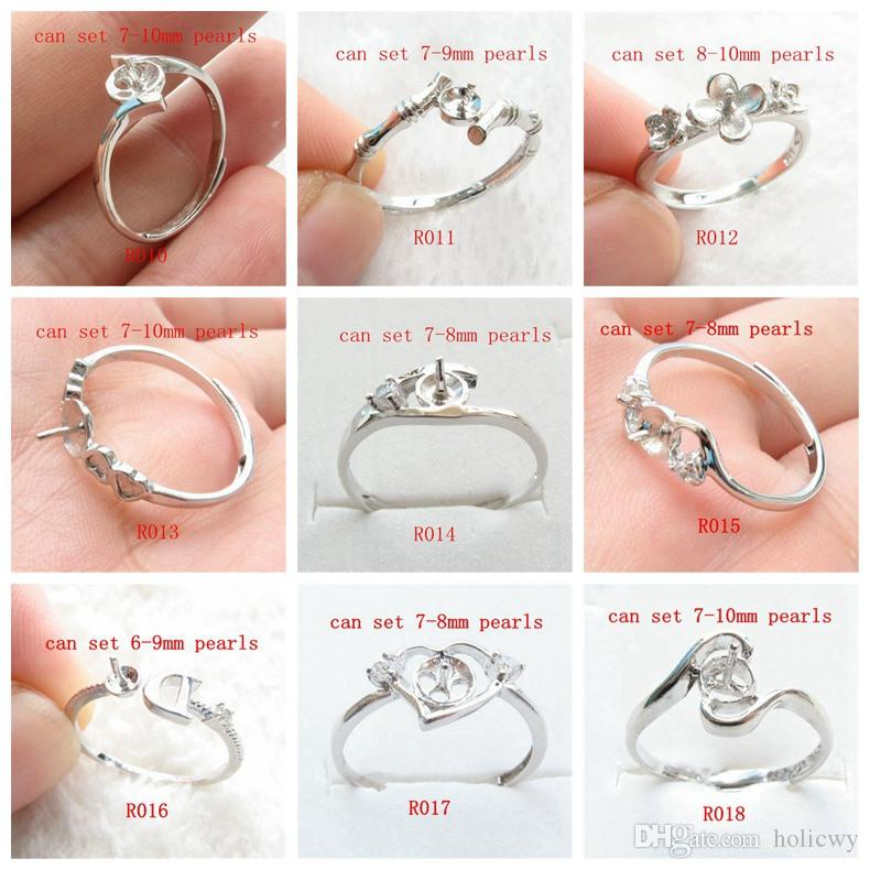 2019 Whole Sale Sterling Silver S925 Ring Settings Pearl Settings