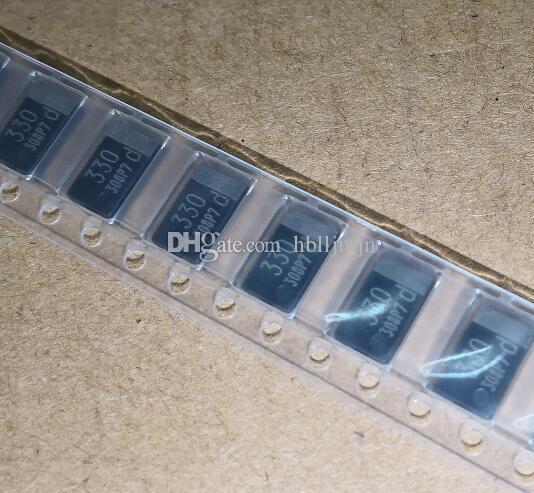 50PCS EEF-CX0D331R EEFCX0D331R 330UF 2V 2.5V SMD condensadores de polímero de tantalio, capacitancia del polímero