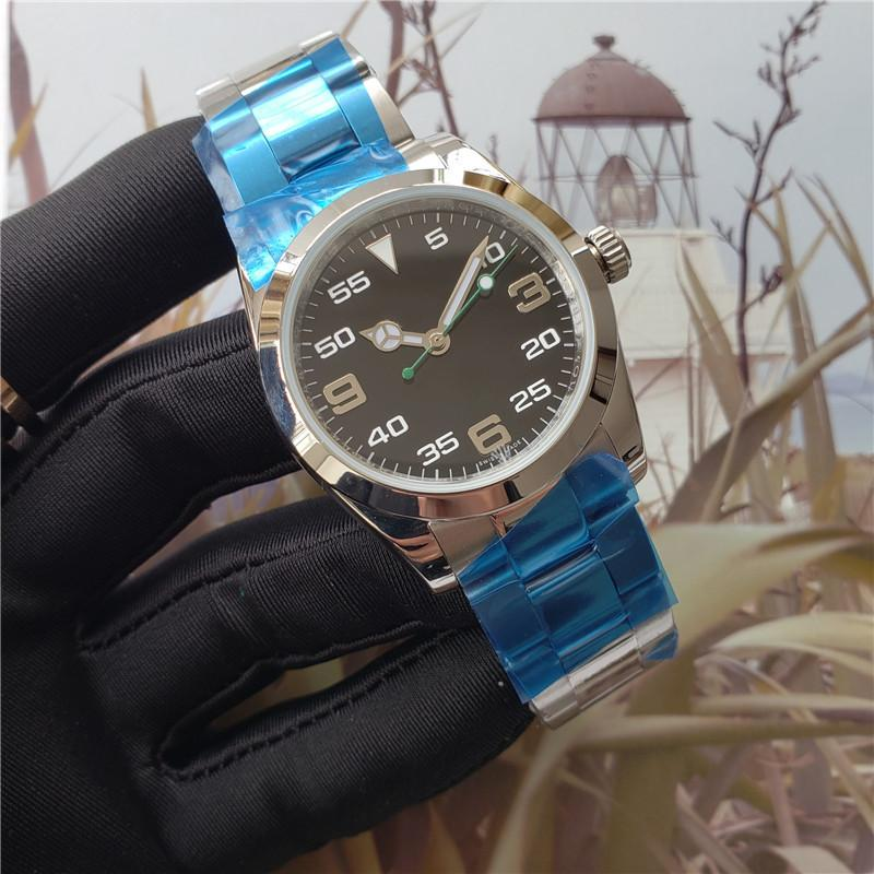 Top Quality Mens Women Watch Air King 116900 Solid Stainless Steel Mens Designers Watches Automatic Movement Orignal Clasp Wristwatch