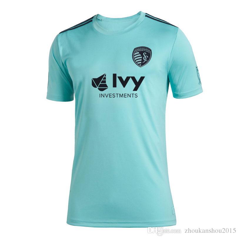 2019 Новый спортивный канзас City Parley Soccerysseys 2019/20 спортивный канзас City X MLS X Parley Eco-Friendly Jersey Runing Jerseys S-4XL