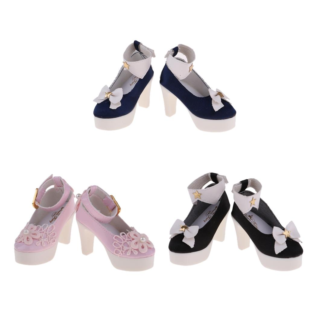 Charming Girl Doll Bowknot High Heel Sandal Shoes for 1//3 BJD Doll Accessory