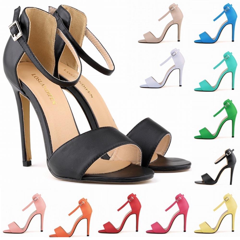 Neue Art und Weise Sapatos Femininos Damen-Frauen-Mädchen-Partei-Zehe Braut-Absatz-Schuhe Sandalen Plus-US-Größe 4-11 D0010