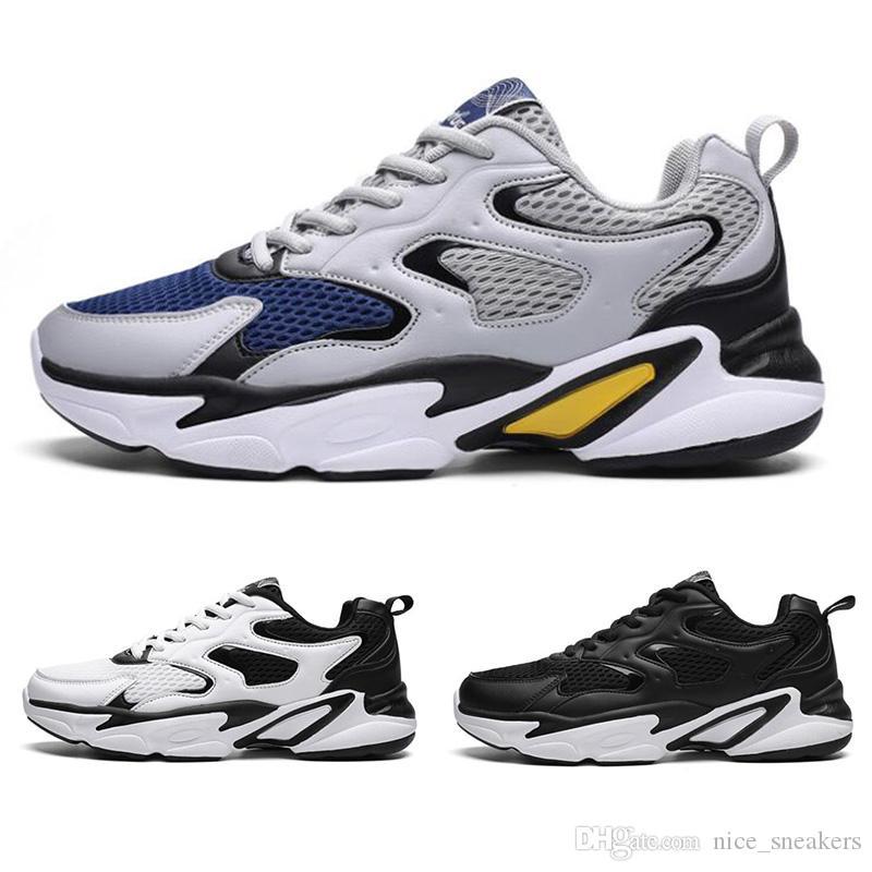 Erkekler Koşu Ayakkabıları Erkek Üçlü Siyah Açık Ayakkabı Koyu Lacivert Çoklu Mesh Spor Spor ayakkabılar Açık Ayakkabı Ücretsiz Kargo