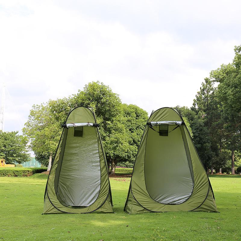 1-2persons Tragbare Datenschutz Dusche Toilette Camping Pop Up Zelt Tarnung / UV-Funktion im Freien Dressing Zelt / Fotografie Zelt